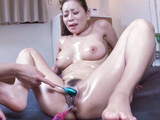Mind blowing sex sceens along milf with big tits, Rei Kitajima